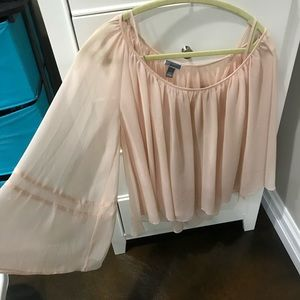 Chelsea 28 Pink Blouse size XS with Bell Sleeves